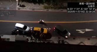 永康計程車暗夜前後遭包夾 原來是警察抓毒犯
