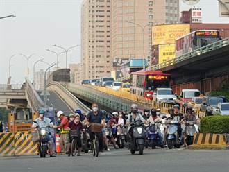 民族陸橋機車道21日凌晨開拆 12月1日恢復通車