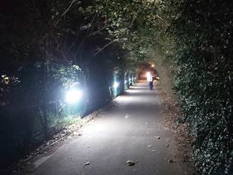 淡水自行車道太黑惹民怨 高灘處今裝設路燈