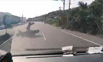 老翁騎車鬼切左轉  後方騎士超車閃避不及擊落
