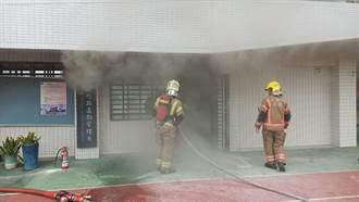 台南崑山科大教室竄濃煙火警 無人受困