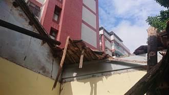 平鎮老屋坍塌 陳家住所一夕成瓦礫堆