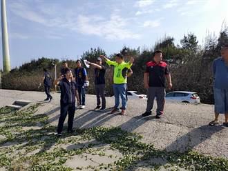台中大安北汕海堤沙灘侵蝕嚴重 市議員施志昌爭取改善