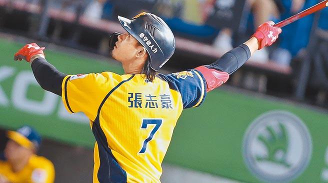 中信兄弟外野手張志豪宣告行使自由球員資格,為中職今年季後第7人。(本報資料照片)