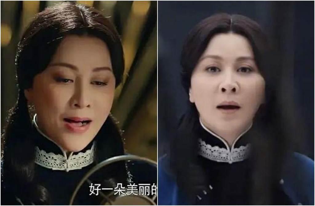 劉嘉玲在戲中扮學生妹,她綁雙馬尾的髮型,遭網毒舌看到出戲。(圖/取材自新浪娛樂)