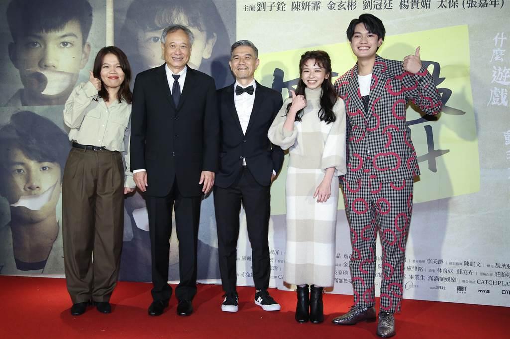李安导演亲临《无声》金马奖庆功宴给予剧组许多鼓励。(陈俊吉摄)
