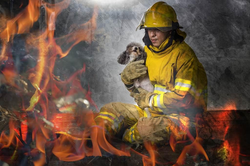 母狗瑪蒂達懷有身孕,仍挺著肚子勇闖失火療養院,成功救出4條人命(示意圖/達志影像)