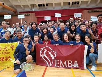 第8屆全國EMBA羽球賽開打 世界7強李洋開球