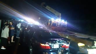 國道3號新化路段6車追撞 1人失去生命跡象