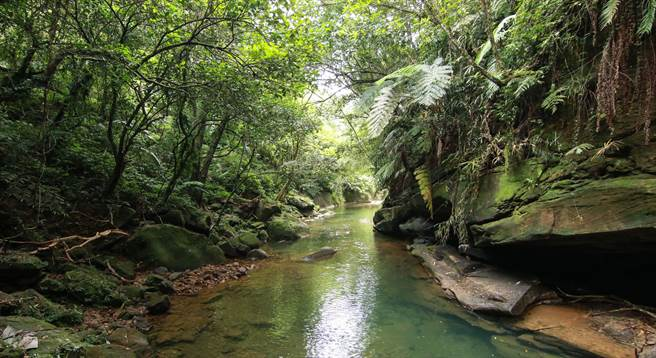 基隆獨家山林祕境「瑪陵」美景。(基市府產發處提供/張穎齊基隆傳真)