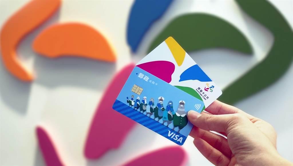 中華郵政悠遊金融卡上市。(悠遊卡提供/黃慧雯台北傳真)
