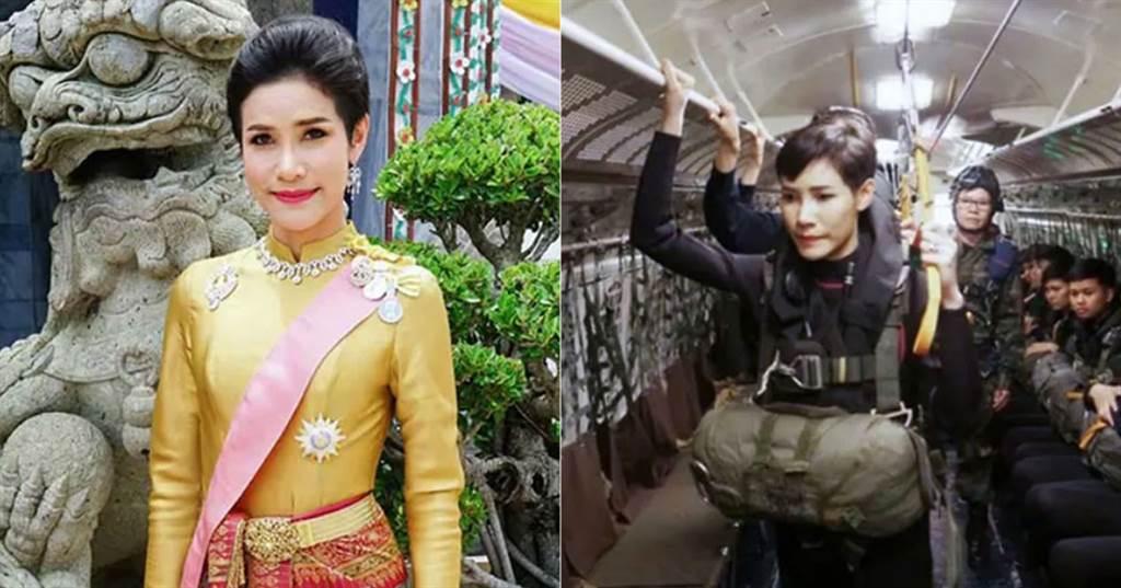 泰國王妃詩妮娜在得寵時的宣傳照,表現儀態端莊,或是軍事訓練有素。(圖/Andrew MacGregor Marshall twitter)