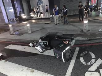 賓士車撞倒外送騎士逃逸 警方追查真駕駛