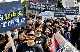 中天新聞22日全時段收視冠軍 主播盧秀芳無畏腳趾骨折遊行力挺言論自由