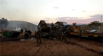 以色列军人也会犯错 梅卡瓦主战坦克不慎翻覆