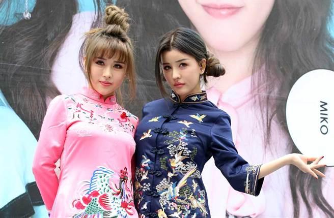 女團「BY2」由雙胞胎姊妹Miko、Yumi組成。(中時資料照片)