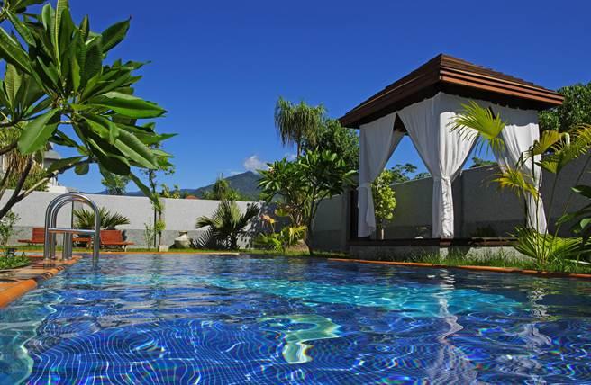 占地4.2公顷,坐拥许多独栋VILLA的日晖国际渡假村。(日晖国际渡假村提供)