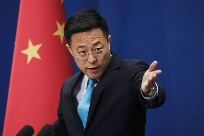 大陸外交部發言人趙立堅表示,堅決反對台美官方往來。(美聯社社)