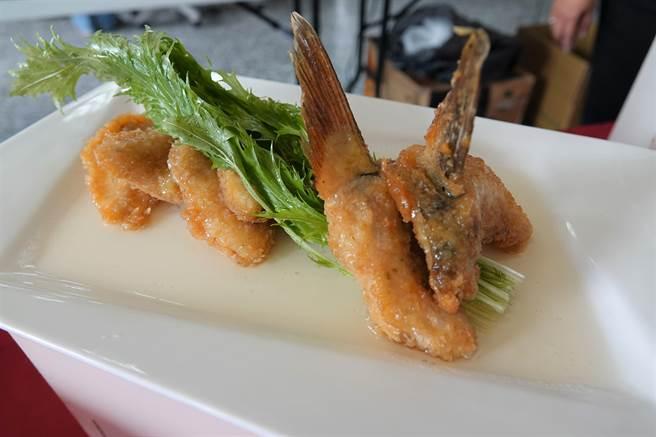 以烏魚製作成西式料理,口味令人驚豔。(謝瓊雲攝)