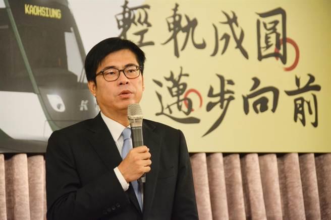 高市府研考會公布陳其邁最新民調,施政滿意度高達6成、近6成6市民對身為高雄人感到光榮。(本報資料照片)