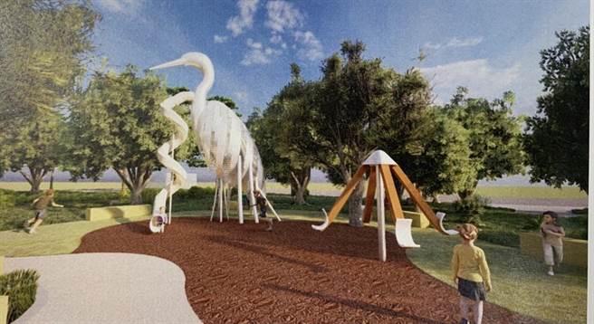 蘆洲區公所16日發布三民公園將以「白鷺鷥」作為公園主題(市議員李坤城服務處提供/戴上容新北傳真)