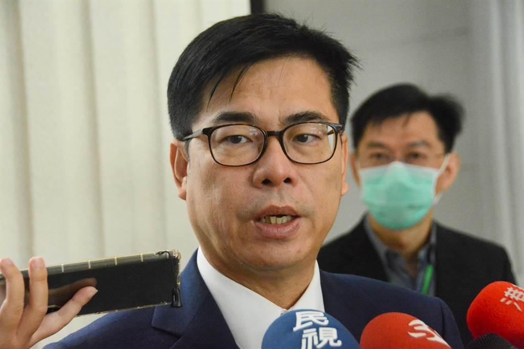 針對被民眾評為「最不欣賞的六都市長」,陳其邁表示會繼續努力撫平社會對立傷痕。(林宏聰攝)