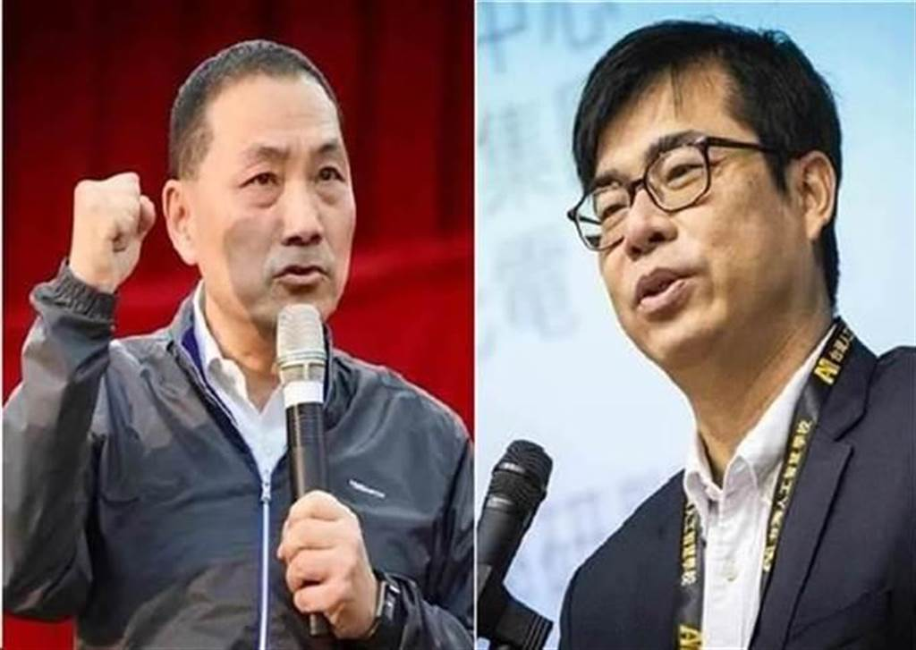 新北市市長侯友宜(左)、高雄市市長陳其邁(右)。(圖/合成圖,本報資料照)