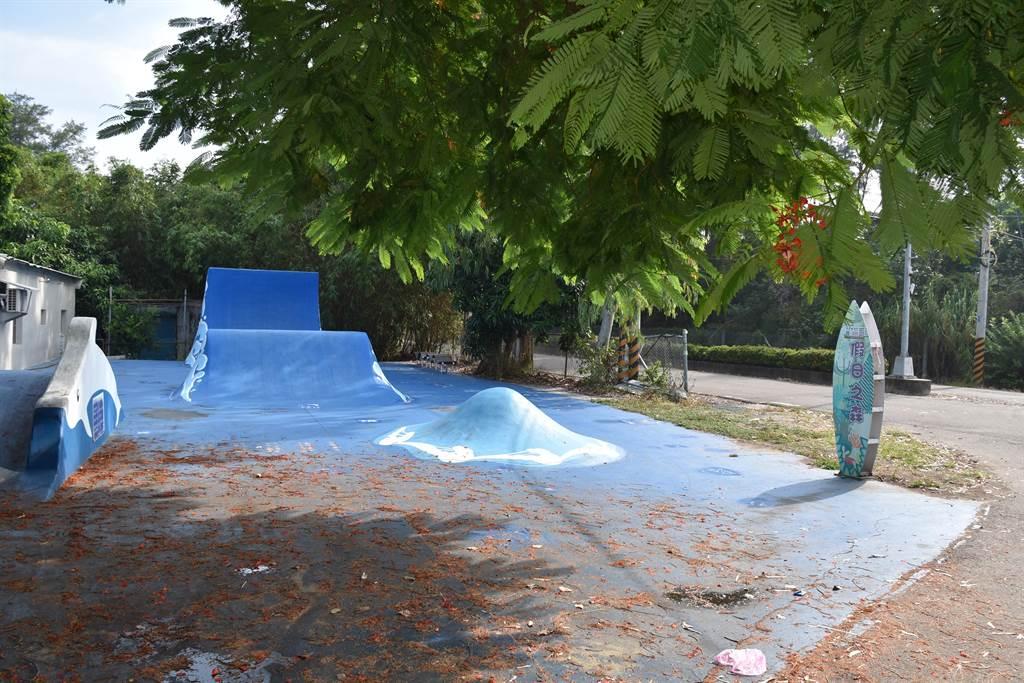 竹南鎮公所將在28、29兩天在假日之森舉行「2020浪花生活節」,將安排BMX表演。(謝明俊攝)