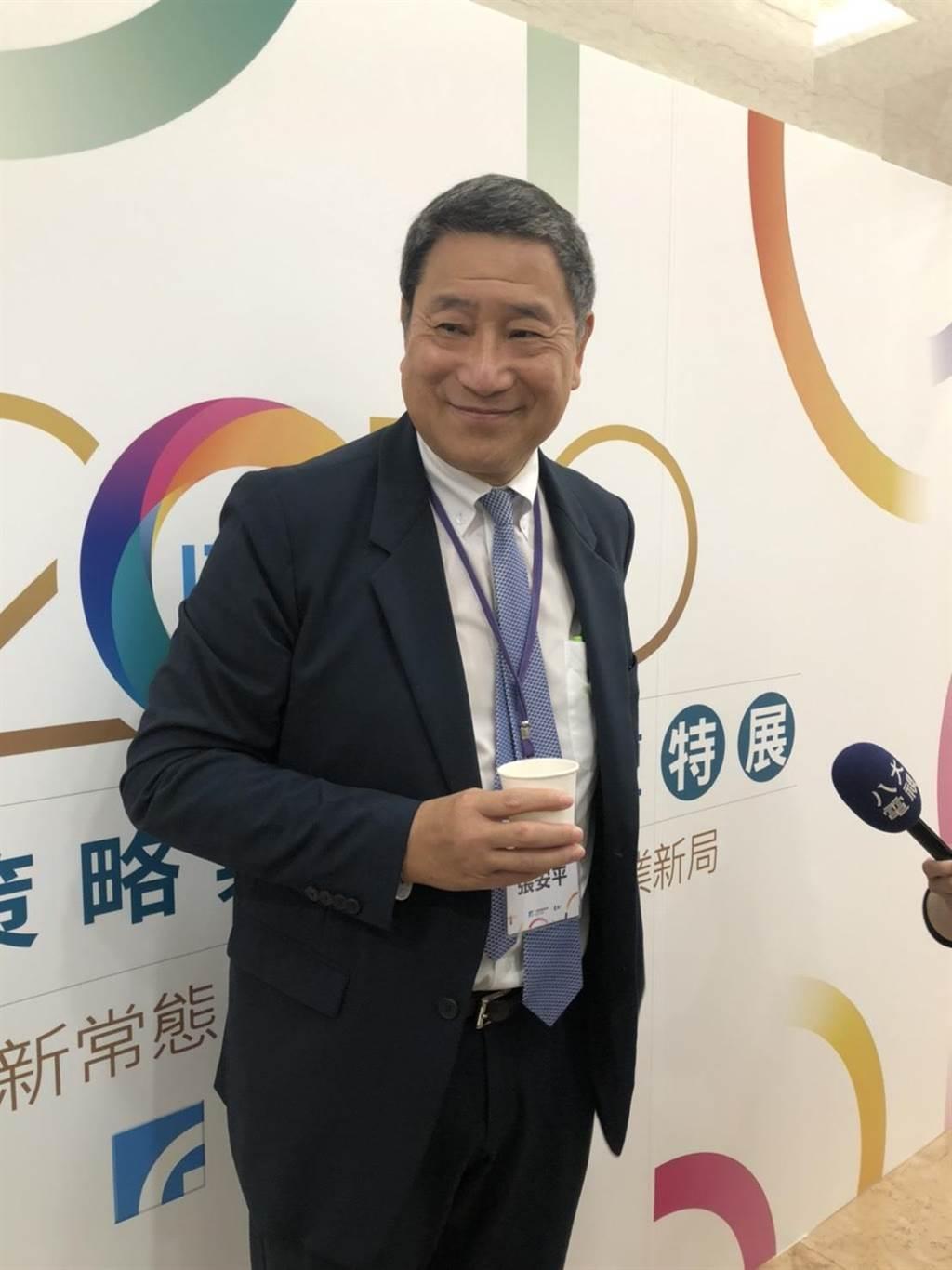 政府說CPTPP門檻高,中國想加入辦不到,台泥董事長張安平直說「你在開我玩笑嗎!」,「中國當然有實力參加」。(圖:王玉樹攝)