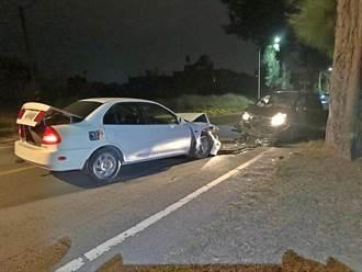 金門疑因逆向超車  2車對撞駕駛均輕傷