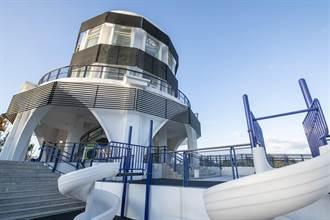南寮旅服中心周六開幕 2樓高溜滑梯、打造親子新樂園