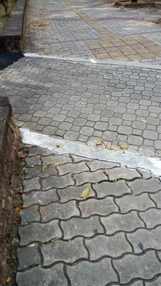 人行道地磚不平跌倒提出國賠  嘉縣府判賠42萬