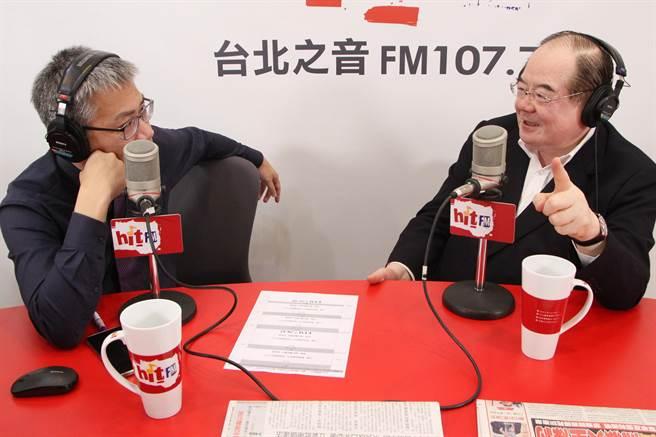國民黨祕書長李乾龍上午接受《羅友志嗆新聞》廣播專訪。(Hit FM提供))