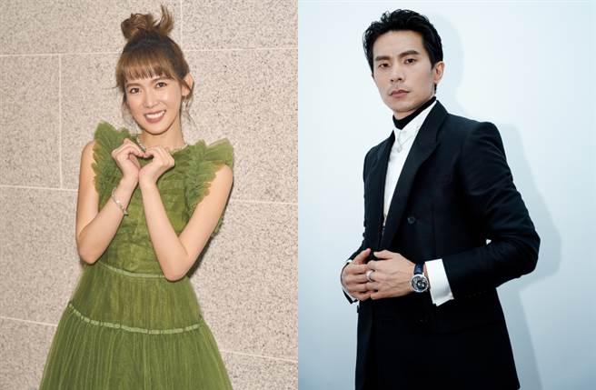 入圍第57屆金馬獎多項大獎的演員孫可芳(左)、姚淳耀(右)穿著H&M 2020年Conscious Exclusive秋冬系列訂製款禮服步上金馬紅毯。(圖/品牌提供)