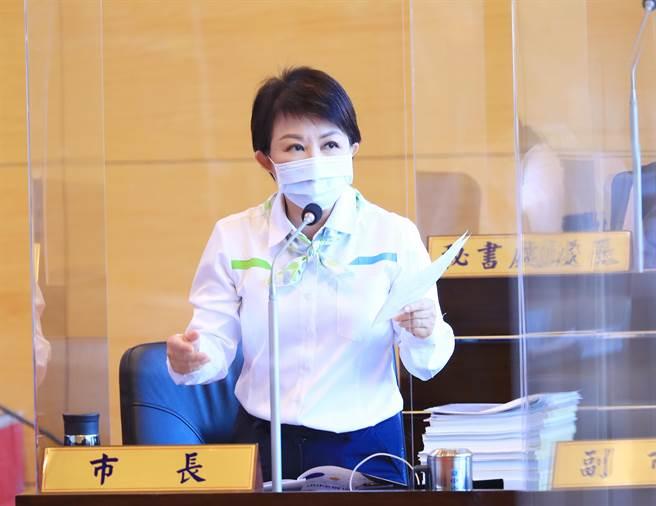 盧秀燕表示,她會以安全為最高原則,「這是市長的責任,我會負責到底」。(陳世宗攝)
