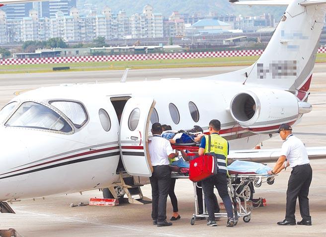 迦納台商專案申請國際緊急醫療專機回台,為新冠確診者首例。圖為示意圖,非當事人機。(本報資料照片)