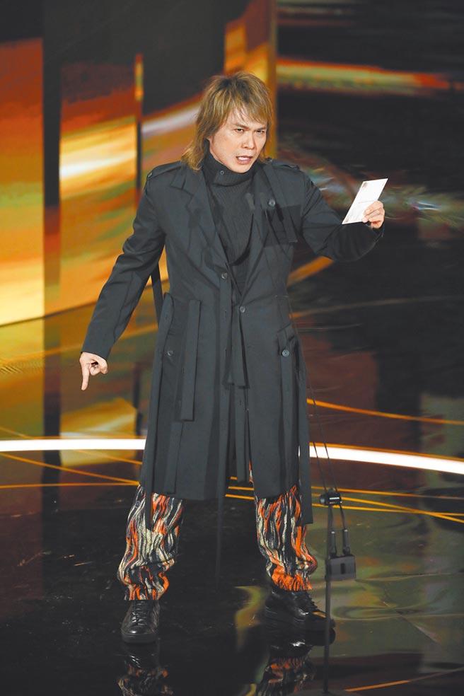 金馬頒獎典禮最高收視落在伍佰頒發「最佳原創電影音樂獎」時。(資料照片)