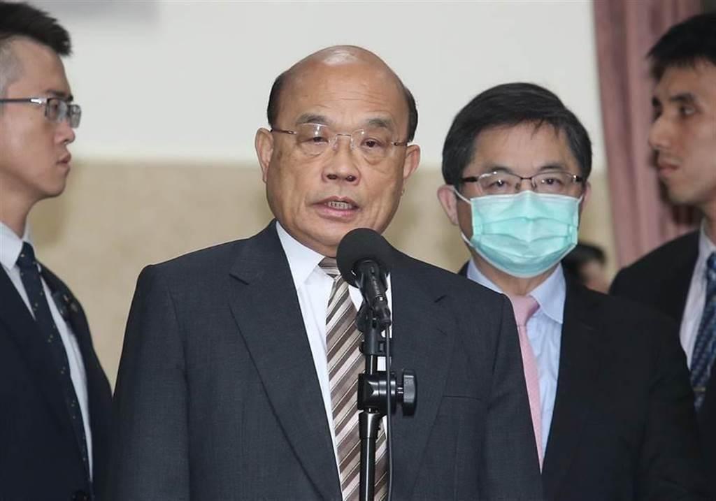行政院長蘇貞昌。(本報資料照)