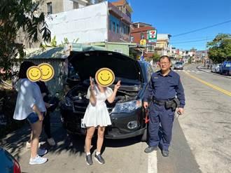 女子駕車南庄遊不來電  三灣警助脫困