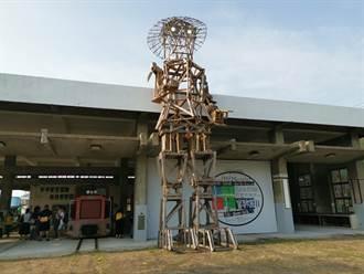 進擊的木偶 10米高巨人現身蕭壠文化園區