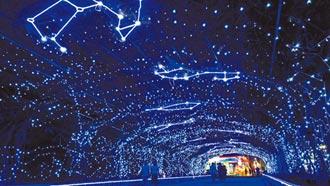 屏東耶誕節試燈 極光炫目