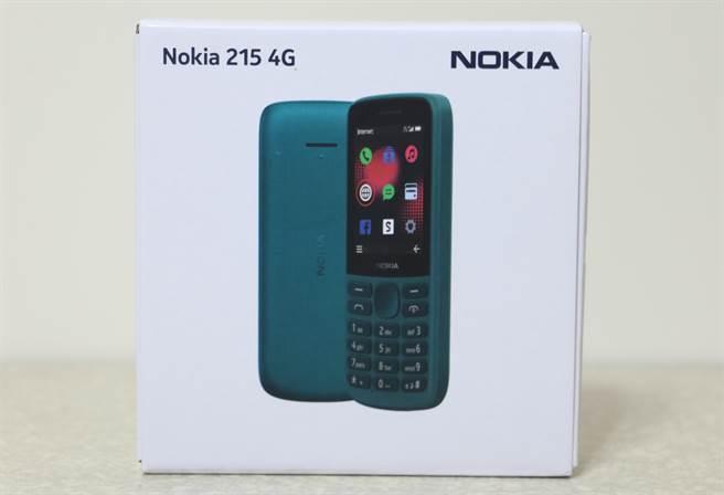Nokia 215 4G包装盒。(黄慧雯摄)