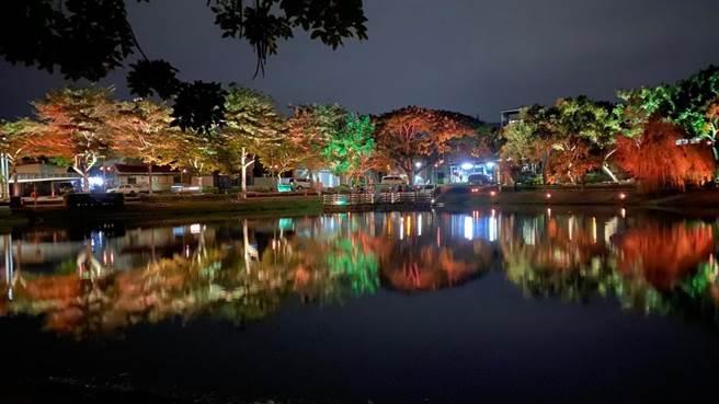 「月津港水域景觀景觀改善計畫」,以24節氣意象規畫月津港夜間照明系統。(台南市文化局提供/曹婷婷台南傳真)