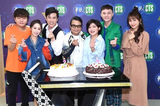 王彩樺25日錄影華視節目,製作單位及藝人朋友為她慶生。(華視提供)