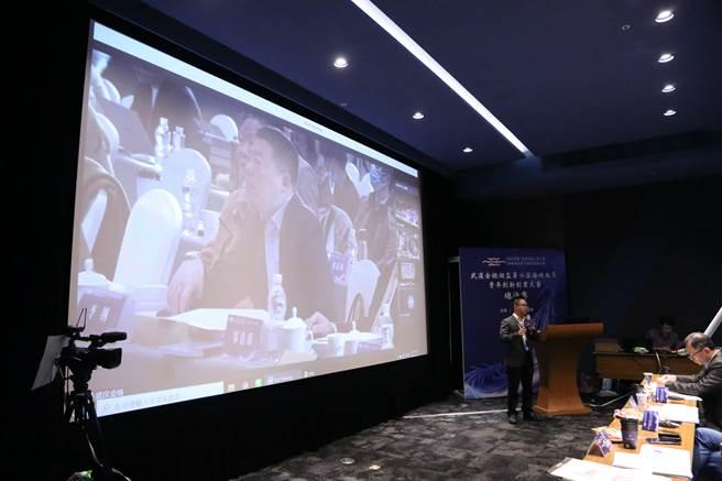 參賽團隊錦田雲端簡報後接受兩岸評審提問。(圖/時際創意傳媒提供)