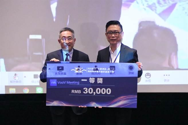 台灣創業團隊亮采形象獲得一等獎。(圖/時際創意傳媒提供)