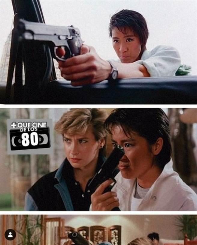 羅芙洛在1985年和楊紫瓊在電影《皇家師姐》合作,引起超高討論度。(圖/ 摘自IG)