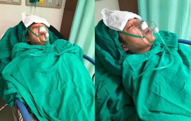 日傳出周湯豪因為動小手術,痛到全身抽蓄,連醫師都無法解釋,在病床憔悴模樣曝光,讓粉絲看了超心疼。(圖/ 摘自周湯豪臉書)