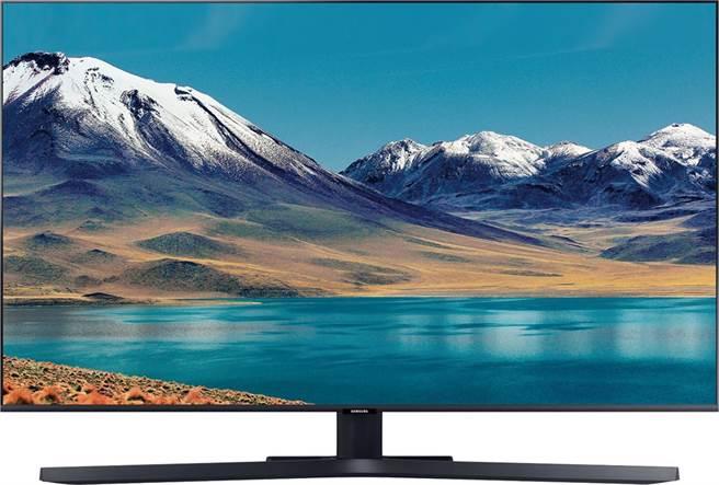 家樂福「SAMSUNG智慧連網UHD液晶電視50型UA50TU8000、HDMI x 3組」,1萬9600元,全台限量150台,紅利點數50倍送後,可省3266元。(家樂福提供)