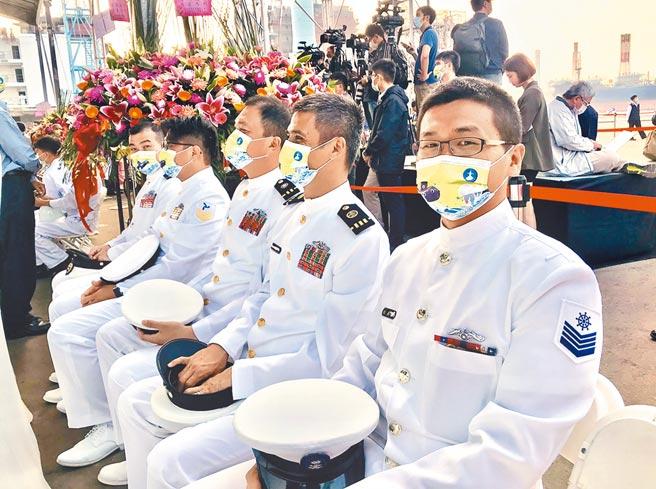 台船2020年11月24日在高雄廠舉行「潛艦國造建造案開工典禮」。(圖文:曾薏蘋)